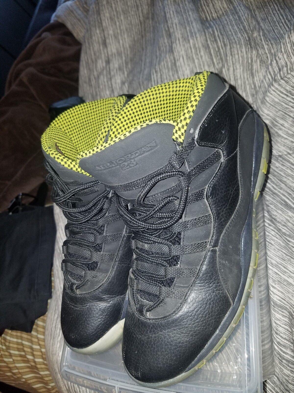 jordan 10 venom green size 12 Wild casual shoes