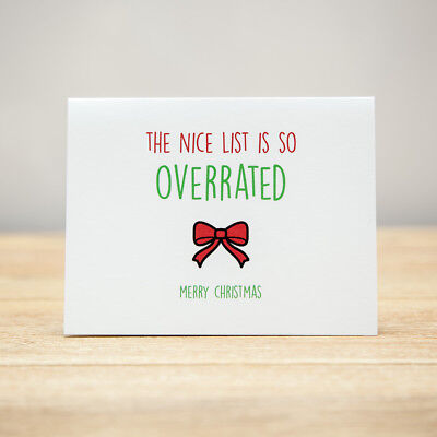 Xmas Quirky Greeting Card Funny Christmas Obligatory