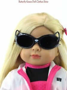 Black-Kitty-Cat-Sunglasses-18-in-Doll-Clothes-Accessory-Fits-American-Girl