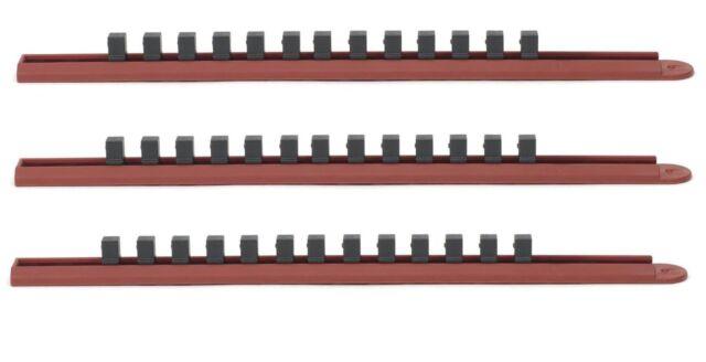 GearWrench 83101 3//8-Inch Drive Slide Socket Rail Red