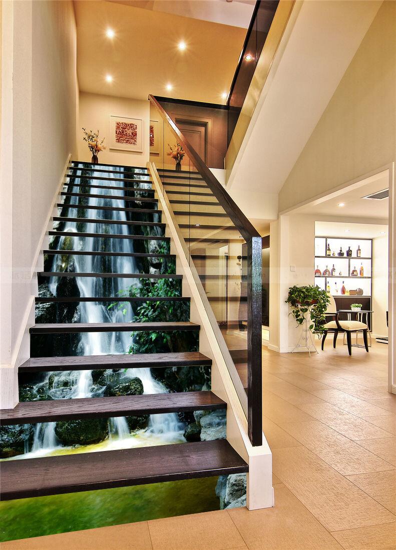 3D Stream Lake 58 Stair Risers Decoration Photo Mural Vinyl Decal WandPapier UK