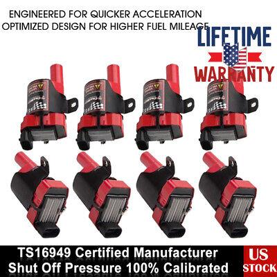 8 Pack Ignition Coils For Chevrolet Silverado GMC LS1 LS3 4.8//5.3L D585 UF-262