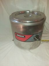 Pair Of Nemco 6100a 7 Qt Round Soup Warmer 550 Watt With Lid