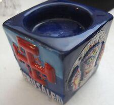 Jerusalem Tea Light Candle Holder Holy Land Ceramic 3D Votive Vigil Bethlehem