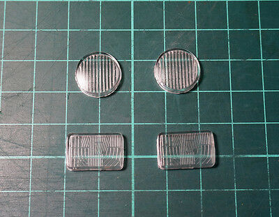 Front Light Lens Set for Tamiya 1/14 Tractor Truck King Hauler Globe Liner