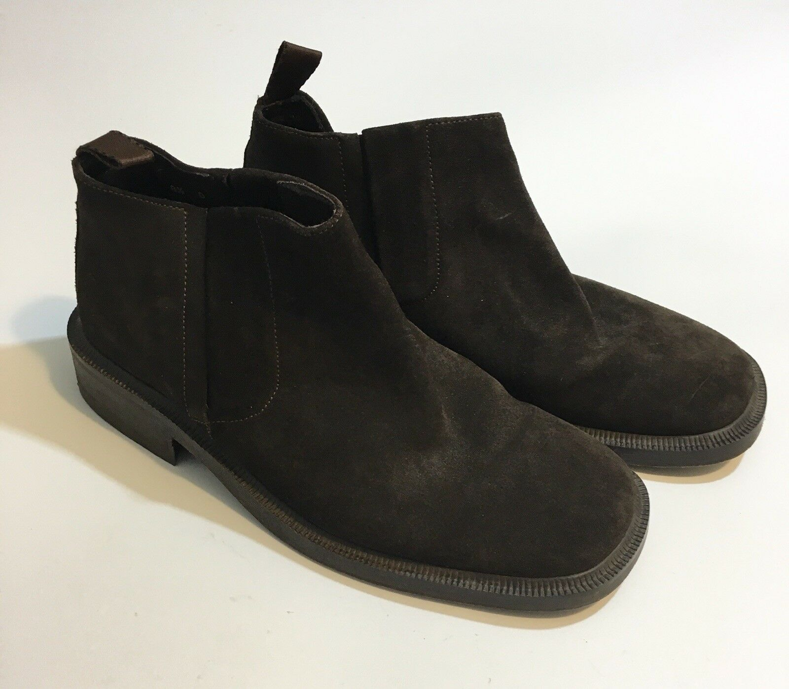 Banana Republic Men's Dark Brown Suede Chukka Ankle Boots Size 8.5 D Italy
