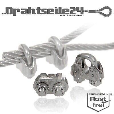 3mm Drahtseil Seilklemme 2x Drahtseilklemmen V4A