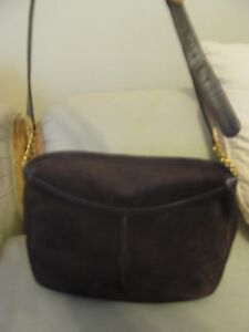 f4d76a11535 Image is loading GUCCI-BROWN-SUEDE-HANDBAG-I-BOUGHT-IN-ROME