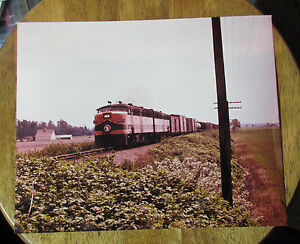 Details about BURLINGTON NORTHERN TRAIN ENGINE 277-A Vintage 8 x 10 photo  print color