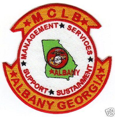 US MARINE BASE PATCH MARINE CORPS LOGISTICS BASE,  ALBANY GEORGIA   Y