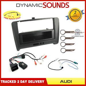 Single Din Stereo Fascia Steering Antenna Adaptor Fitting Kit For Audi TT 2007>