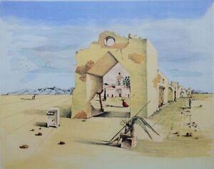 Salvador Dalí: Pueblo Paranoïaque - Litografía Numerada Y Firmada, 500ex