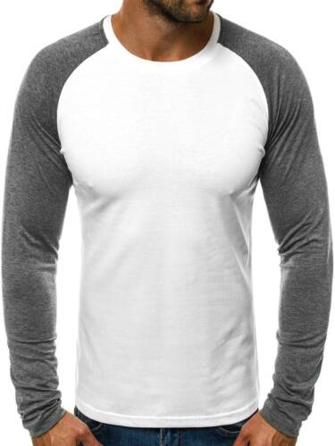 OZONEE 8368 Herren Longsleeve Figurbetont Langarm mit Motiv Sweatshirt MIXD