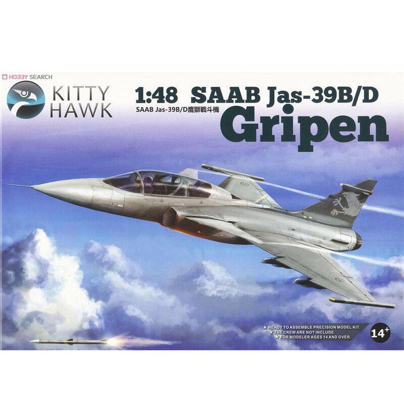 2019 Hot Sale Kitty Hawk  1 48 KH80118 SAAB JAS-39B D Gripen Model Kit  new-