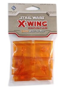 Fantasy Flight Games, Star Wars X-Wing, Orange Bases And Pegs, New
