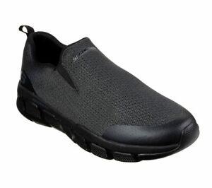 Skechers-Black-shoes-Men-Memory-Foam-Comfort-Slipon-Casual-Mesh-Train-Walk-52823