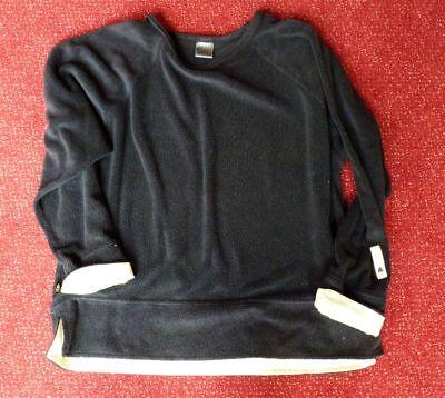 Gewidmet Uralter Nike Pullover Pulli Mit Raglanärmel Retro Vintage Schwarz Mit Gelb Xl