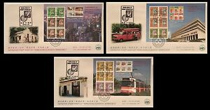 1997-Hong-Kong-Classic-Definitives-Stamp-sheetlets-CPA-FDC-No-1-date-stamp