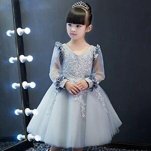 Image Is Loading Flower Dress Kids Birthday Wedding Bridesmaid Pageant