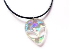 90s holographic alien acrylic pendant choker necklace ebay 90s holographic alien acrylic pendant choker necklace aloadofball Gallery