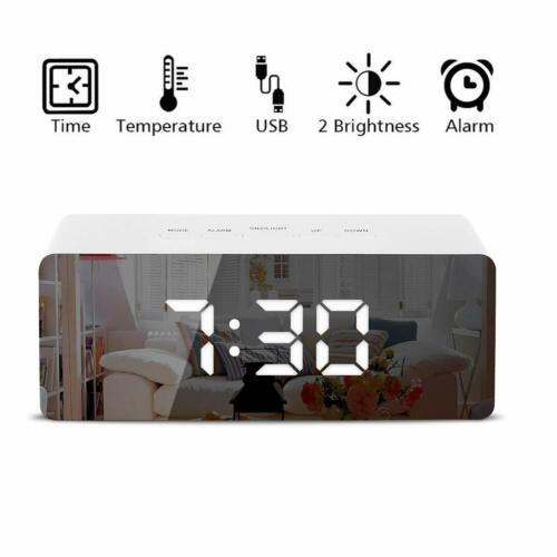 Digital LED Large Display Alarm Clock USB Operated Mirror Digital Alarm Clock