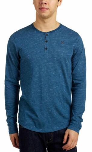 Hurley Men/'s Dri-FIT San Clemente Long Sleeve Raglan Henley Shirt