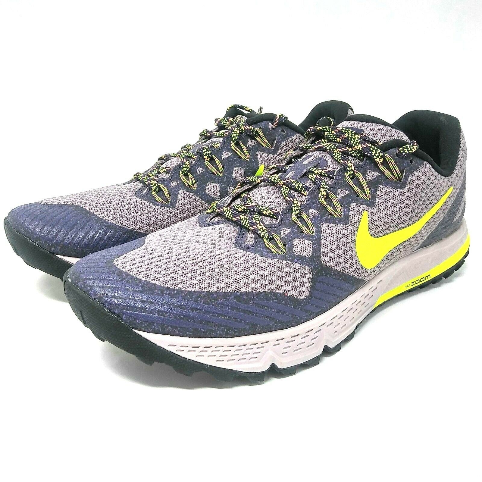 NEW Nike Womens Air Zoom Wildhorse 3 Trail Running Purple 749337-501 Comfortable Wild casual shoes