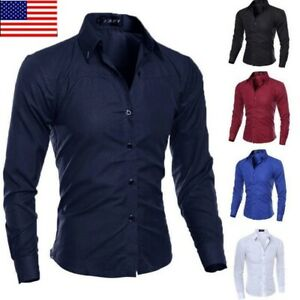US-Fashion-Mens-Luxury-Casual-Stylish-Slim-Fit-Long-Sleeve-Casual-Dress-Shirts