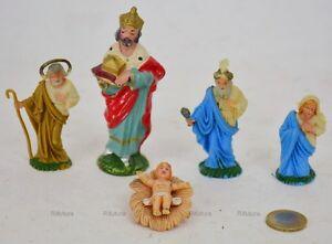 5-vecchie-Statuine-Presepe-Presepio-Plastica-Nardi-1-in-Pasta-H10cm-d-039-epoca-1HO