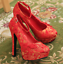 Women-039-s-Wedding-Red-Embroidered-Pumps-Platform-Floral-Buckle-Party-High-Heels thumbnail 4
