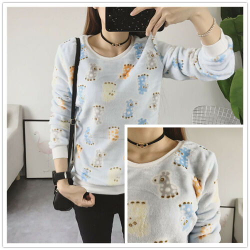 Autumn Winter Warm O-Neck Ladies Pullover Sweater ​Warm Printed Jumper For Women
