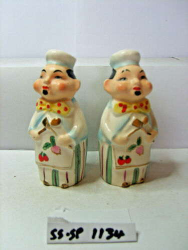 oriental chefs salt and pepper shakers