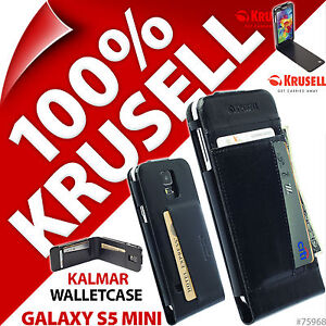 Krusell-Kalmar-WalletCase-Portafoglio-Custodia-Flip-per-Samsung-Galaxy-S5-MINI