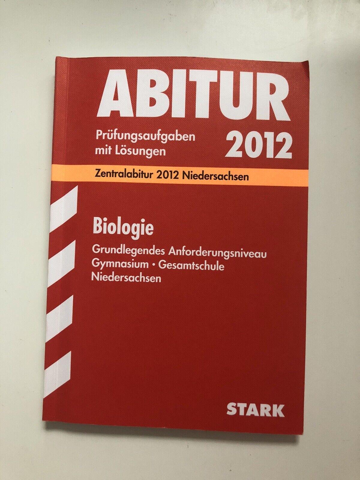 Abitur 2012 Prüfungsaufgaben mit Lösungen Zentralabitur Niedersachsen Stark