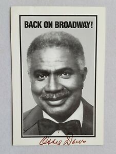 hand-signed-Ossie-Davis-B-amp-W-photo-autographed-4-x-6-Back-on-Broadway-authentic