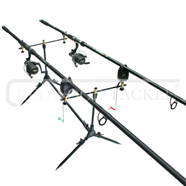 Carp Hunter Fishing Kit 2 x Rods, BTR Free Spool Reels, Line, Carp Pod,+ Alarms