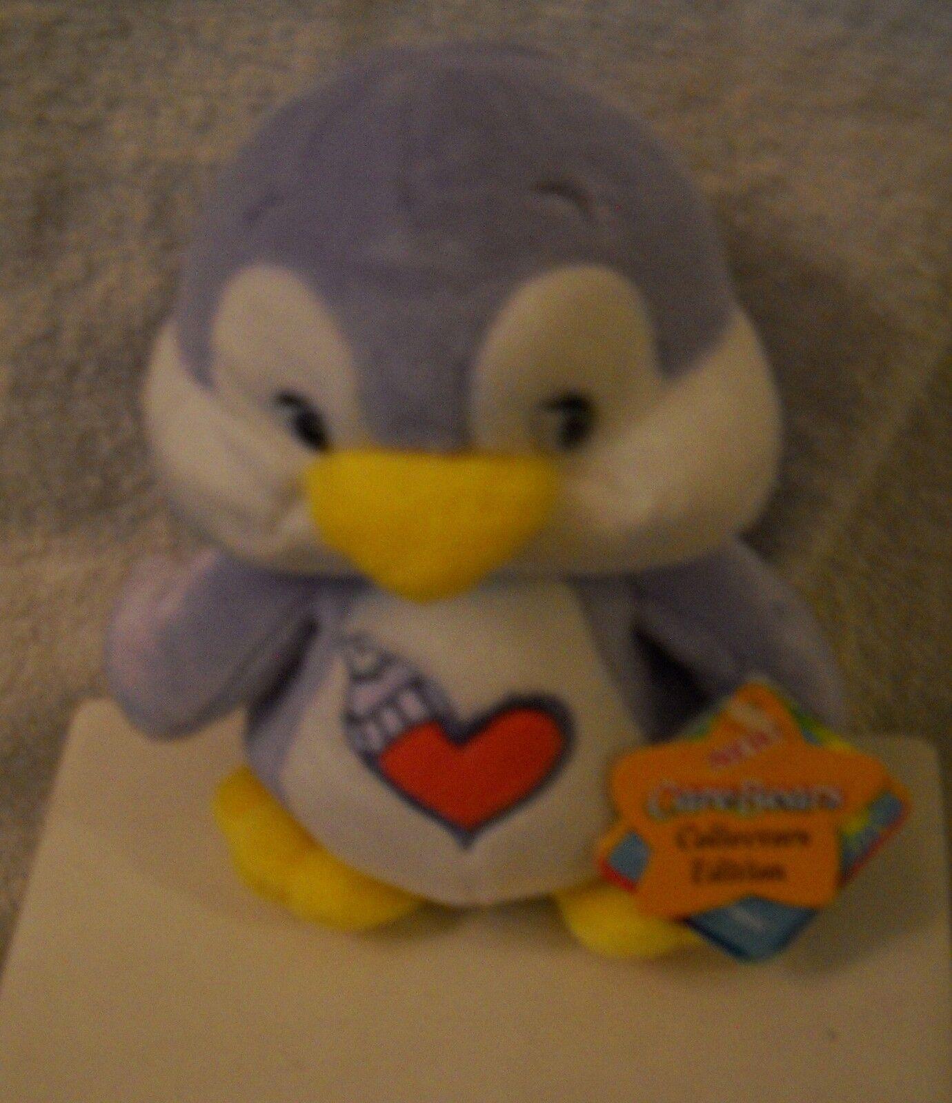 5951 NWT Play A Long Care Bears Cousins 6  Cozy Heart Penguin Collector Edition