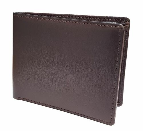 Slim homme en cuir véritable deux volets portefeuille sac à main Business Credit Card ID Holder