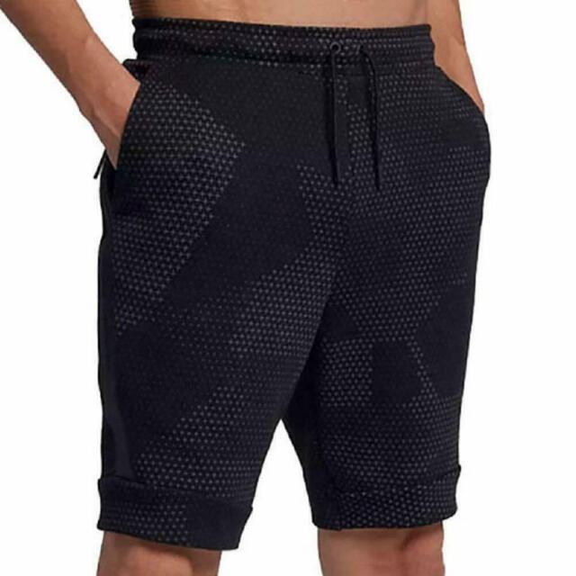 Mens Nike Sportswear Tech Fleece Shorts 886193-010 Black Size XL