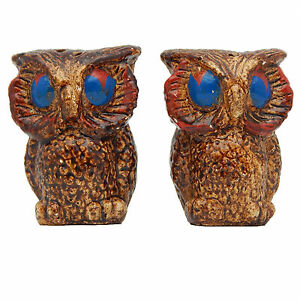Owl salt and pepper shakers set vintage mid century bird chalkware novelty ebay - Owl salt and pepper grinders ...