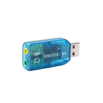 New 5.1 External USB Audio Sound Card Adapter For PC Notebook Laptop