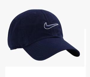 Nike New Swoosh Heritage Cap Essential Unisex Hat Blue Black Mens ... aed7eaf4323