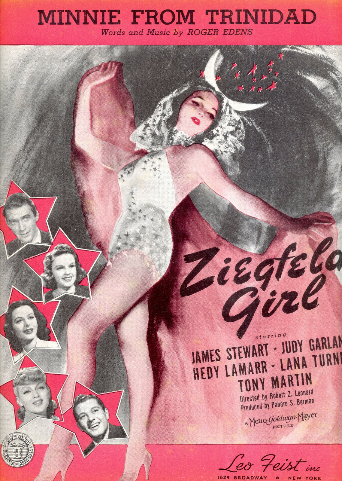 ZIEGFELD GIRL Sheet Music  Minnie From Trinidad  Judy Garland Lana Turner Hedy