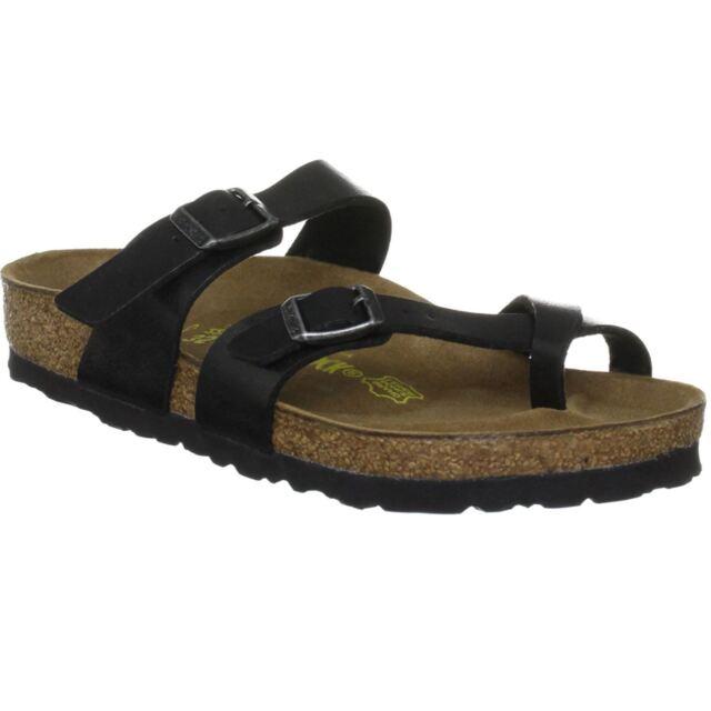 41cb163212e3d Birkenstock Mayari Graceful Licorice Women Birko-Flor Open Back Strapped  Sandals