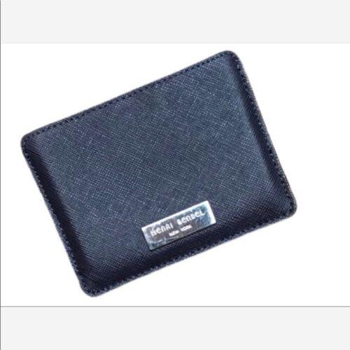 HENRI BENDEL Navy Leather Card Holder