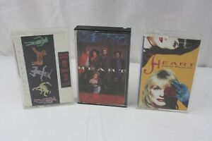 Lot-of-3-Heart-Cassettes-Bad-Animals-Heart-Desire-Walks-On-Tested