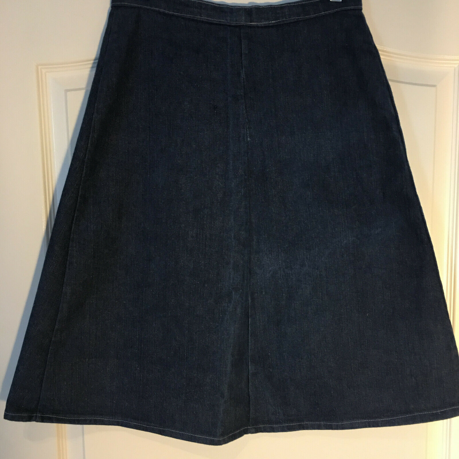 Peekaboo A-Line Vintage Inspired Denim Button Fro… - image 8