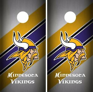 Details About Minnesota Vikings Cornhole Skin Wrap Nfl Football Flag Custom Vinyl Decal Dr51