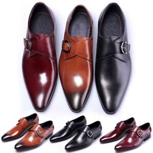 Men-039-s-Business-Dress-Formal-Oxfords-Leather-Shoes-Flat-Slip-On-Casual-Loafers-US