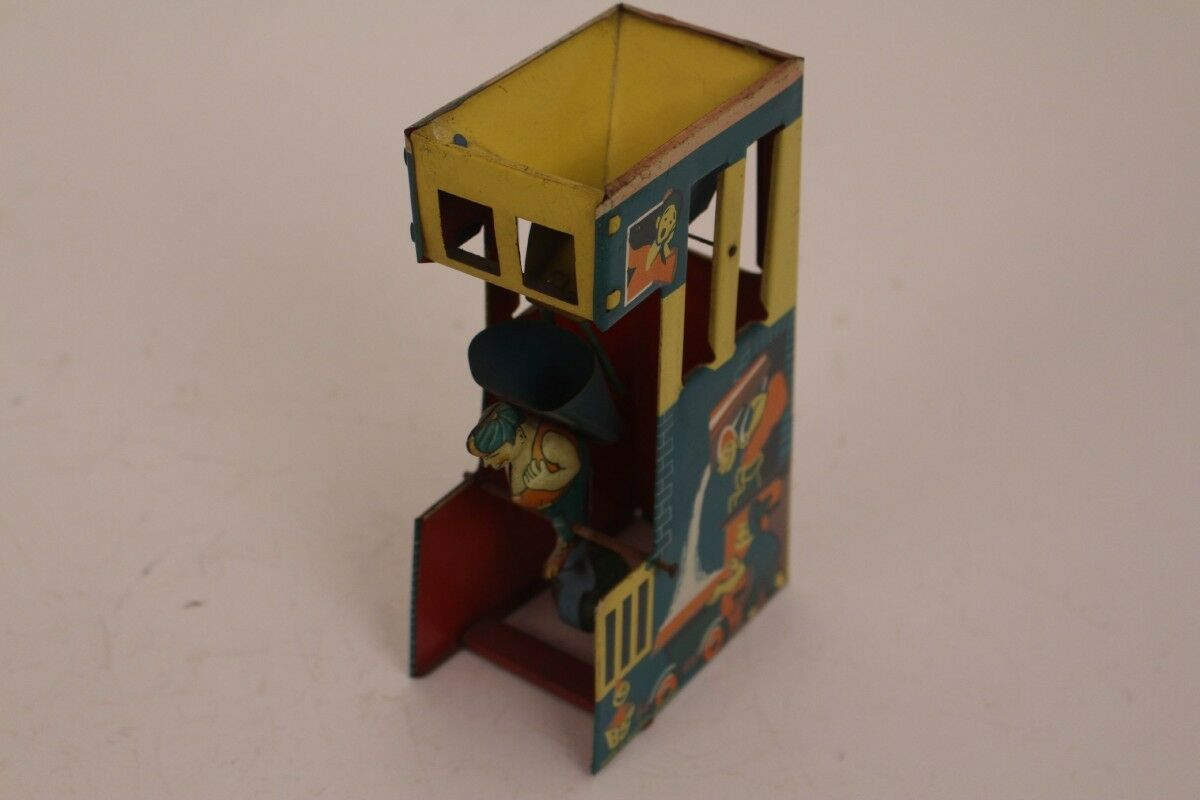 Blomer & Schüler Tower Tower Sand Water Tin Toy Western Germany 50er